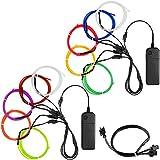 YuCool 10 Pack 3ft Portable EL Wire, luz de neón para la decoración de la Fiesta de...